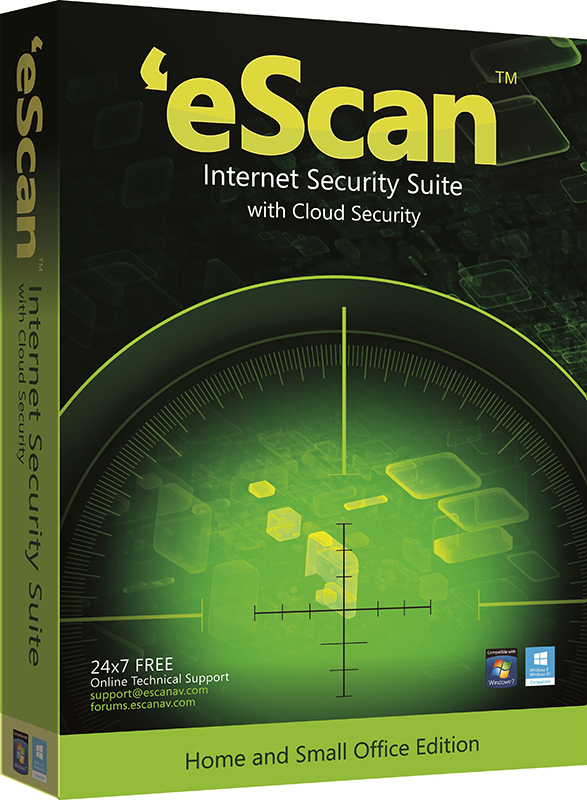 eScan Internet Security Suite with Cloud Security для дома и малого офиса (1 ПК, 1 год) (Цифровая версия)