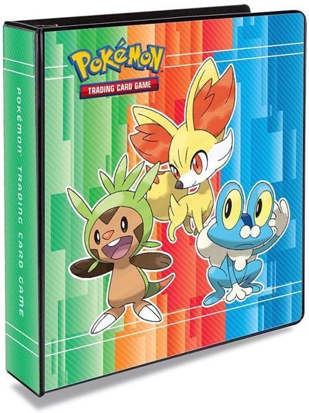 Альбом для карт Pokemon XYАльбом для карт Pokemon XY &amp;ndash; дополняемый альбом с изображением Чеспин, Фенекин и Фроки на обложке. Может дополняться страницами на 9 секций.<br>
