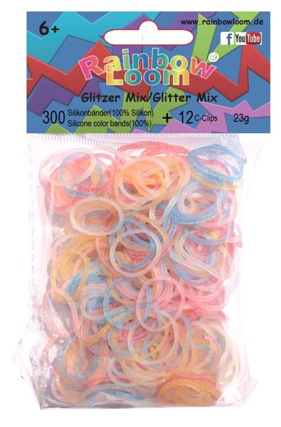 Резиночки для плетения браслетов Rainbow Loom. Блестящие миксРезиночки для плетения браслетов Rainbow Loom. Блестящие микс – набор миниатюрных резиночек Блестящие микс от Rainbow Loom привлечет девочку и поможет создать необычные украшения для себя и подруг.<br>