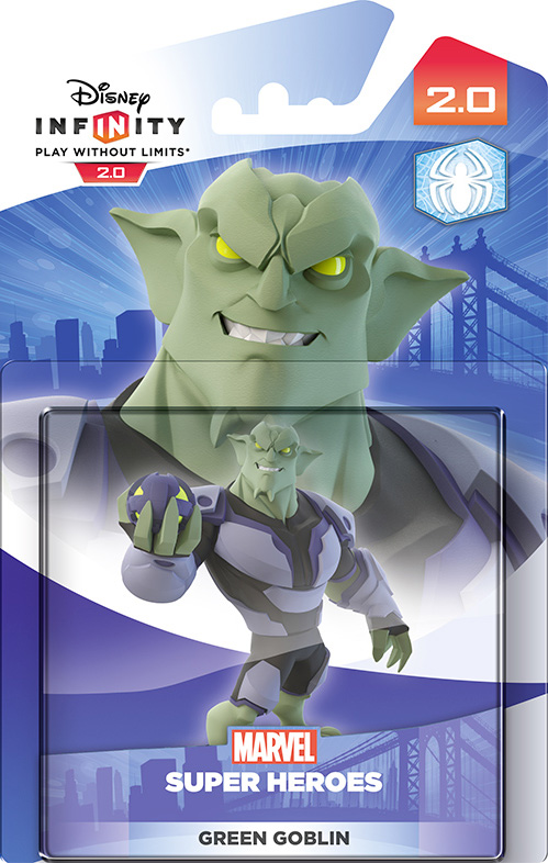 Disney Infinity 2.0. Marvel. Интерактивная фигурка персонажа Зелёный гоблин [PS3 / PS4 / Xbox 360 / Xbox One]Disney Infinity 2.0. Marvel. Интерактивная фигурка персонажа Зелёный гоблин позволяет задействовать нового персонажа в игровом наборе Disney Infinity – супергероя Зелёный гоблин.<br>