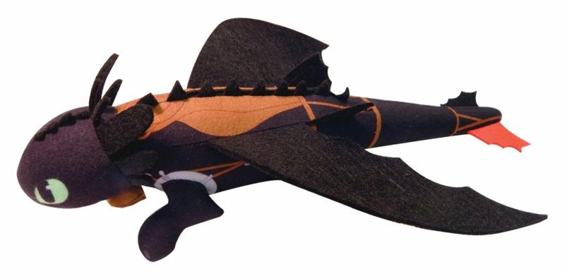 Мягкая игрушка Dragons. Плюшевый Беззубик  (запускается и летит) (35 см)