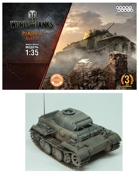 Сборная модель World of Tanks. Танк Pz. Kpfw.II Ausf. J. (1:35)Сборная модель World of Tanks. Танк Pz. Kpfw.II Ausf. J. – модель легендарного танка в масштабе 1:35, созданная по мотивам игры World of Tanks.<br>