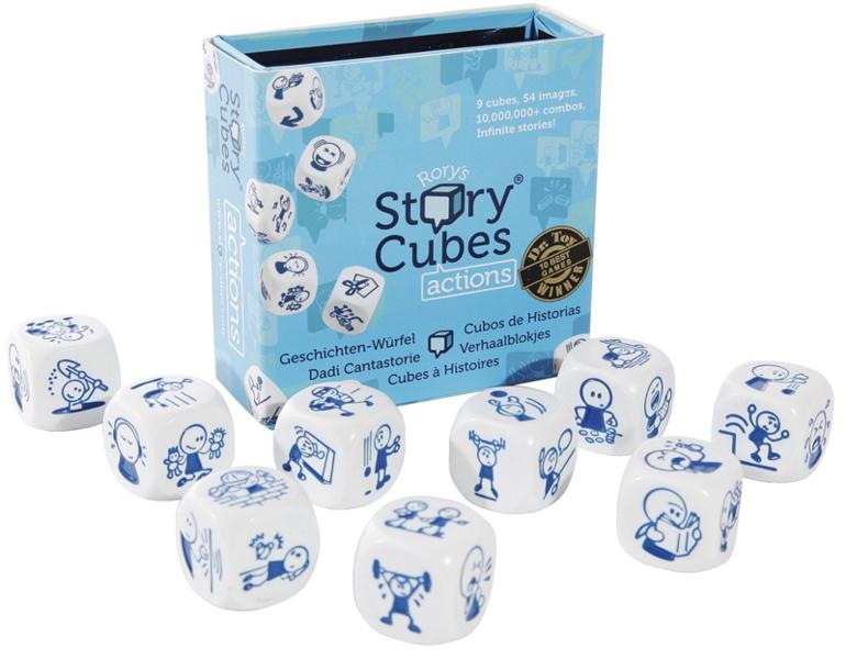 Настольная игра Кубики историй. Действия игра настольная обучающая rory s story cubes кубики историй космос