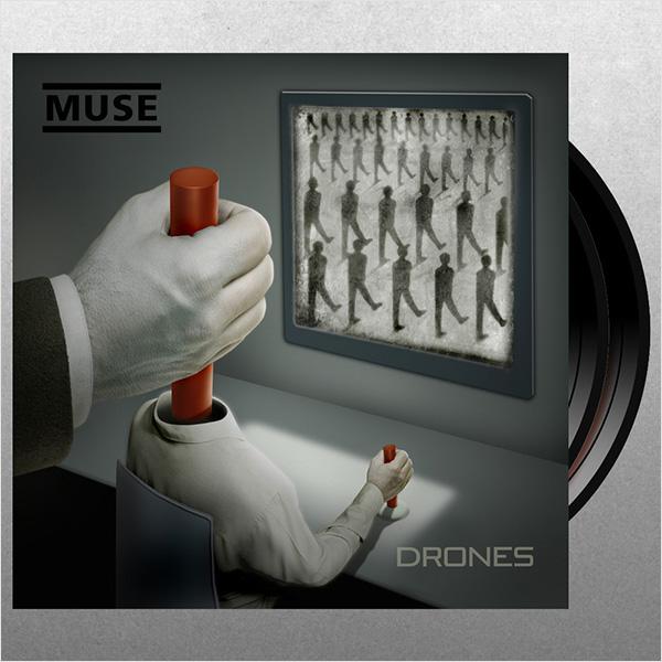 Muse. Drones (2 LP)8 июня состоится релиз одной из самых ожидаемых пластинок года – Drones Muse.<br>