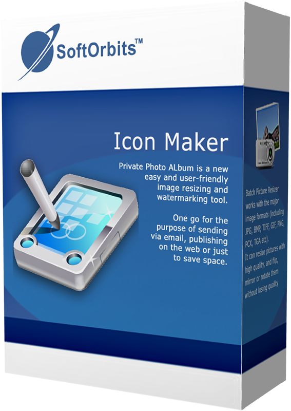 SoftOrbits Icon Maker (Редактор иконок) (Цифровая версия)Создавайте отличные иконки для приложений и баннеры с помощью программы SoftOrbits Icon Maker. Даже если вы не умеете рисовать, этот инструмент поможет вам создавать отлично оформленные иконки, значки курсоров и баннеры из любой картинки.<br>