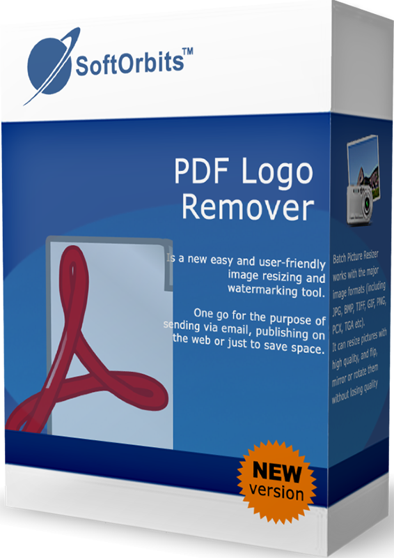 SoftOrbits PDF Logo Remover (Удаление логотипов с PDF) (Цифровая версия)Программа PDF Logo Remover – это уникальное решение, разработанное для удаления ненужных водяных знаков и фоновых изображений с PDF файлов, сохраняя качество документа. Удаление фоновых изображений позволяет сохранить до 90% чернил при печати PDF документов.<br>