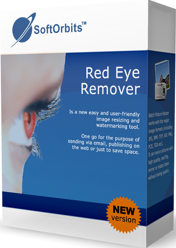 SoftOrbits Red Eye Remover (Исправление эффекта красных глаз) (Цифровая версия)Программа SoftOrbits Red Eye Removal поможет убрать красные глаза одним щелчком мыши. Пользователю не нужно аккуратно выделять глаза на фотографии, программа сделает все сама и автоматически уберет эффект красных глаз.<br>
