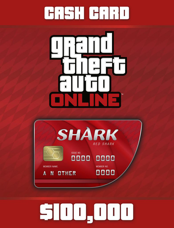 Grand Theft Auto Online: Red Shark Cash Card  (Цифровая версия)Grand Theft Auto Online: Red Shark Cash Card &amp;ndash; платежная карта, позволяющая получить 100 000 долларов GTA для GTA Online.<br>