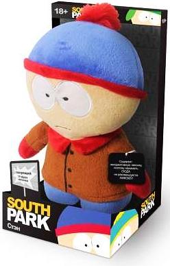 Мягкая игрушка Южный парк. Стэн со звуком (22 см)Мягкая игрушка Южный парк. Стэн со звуком – сувенир мягконабивной в виде персонажа мультсериала South Park с звуковым чипом, приводимым в действие нажатием на ладонь персонажа.<br>