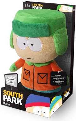 Мягкая игрушка Южный парк. Кайл со звуком (22 см)Мягкая игрушка Южный парк. Кайл со звуком – сувенир мягконабивной в виде персонажа мультсериала South Park с звуковым чипом, приводимым в действие нажатием на ладонь персонажа.<br>
