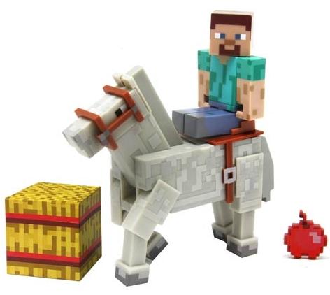 Набор фигурок Minecraft. Steve and White Horse (8 см)Набор фигурок Minecraft. Steve and White Horse создан по мотивам популярной игры и воплощают собой Стива на белой лошади.<br>