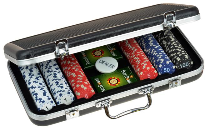 Набор для покера в алюминиевом кейсе (300 фишек) набор для покера empire 500