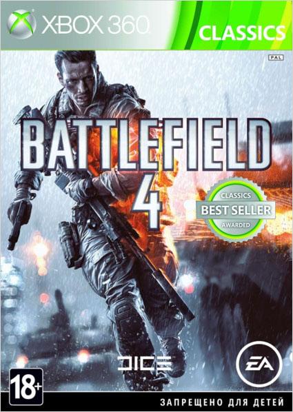 Battlefield 4 (Classics) [Xbox 360]Battlefield 4 &amp;ndash; это определяющий для жанра, полный экшена боевик. Основанный на мощной и надежной графической технологии Frostbite&amp;trade; 3, Battlefield 4&amp;trade; предлагает погрузиться в уникальную игровую среду, поражающую своей реалистичностью.<br>