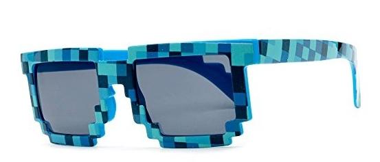 Пиксельные очки в стиле «Minecraft» (синие)