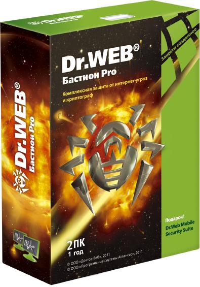 Dr.Web Бастион Pro (2 ПК, 1 год)