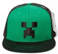 Бейсболка Minecraft. Creeper Face Premium Snap Back Hat (зеленая)