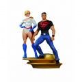 Фигурка Superman Family Multi-Part Statue Part 1 Superboy & Power Girl (25 см)
