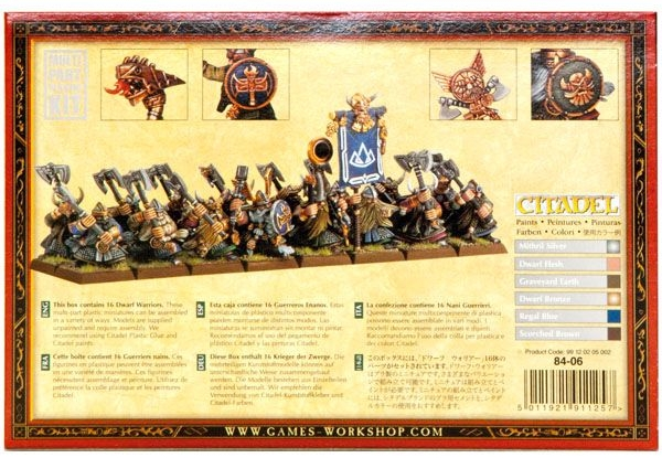 Набор миниатюр Warhammer 40,000. Dwarf Warriors Regiment