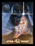 Постер в раме Star Wars 40th Anniversary: New Hope Art