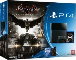 Комплект Sony PlayStation 4  (500 GB) + игра Batman: Рыцарь Аркхема