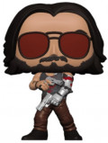 Фигурка Funko POP Games: Cyberpunk 2077 – Johnny Silverhand with Gun Metallic Glows in the Dark Exclusive (9,5 см)