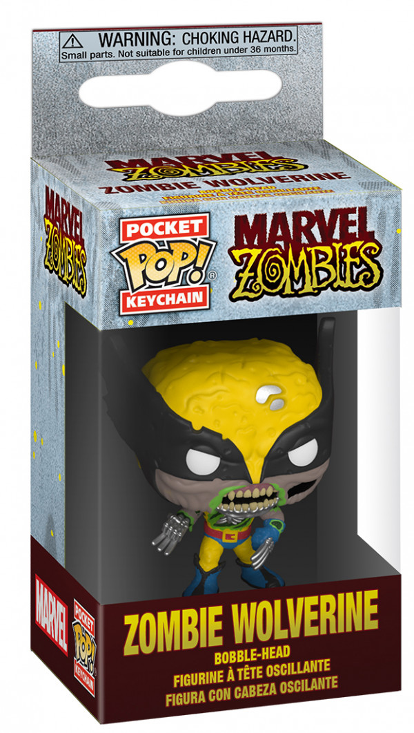 Брелок Funko Pocket POP: Marvel Zombies – Zombie Wolverine