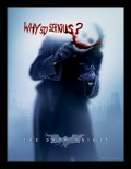 Постер в раме The Dark Knight: Why So Serious?