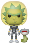 Фигурка Funko POP Animation: Rick And Morty – Space Suit Rick With Snake (9,5 см)