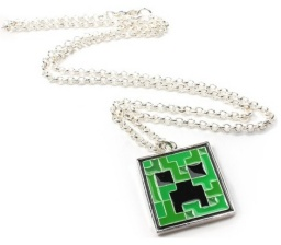 Кулон на цепочке Minecraft. Creeper