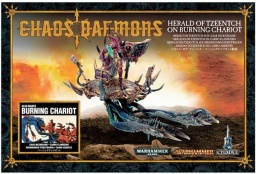 Набор миниатюр Warhammer 40,000. Chaos Daemons: Herald of Tzeentch on Burning Chariot