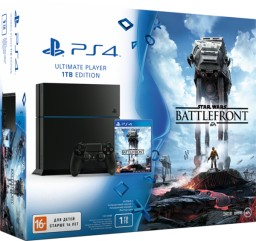 Комплект Sony PlayStation 4 (1 TB) Black + игра Star Wars: Battlefront