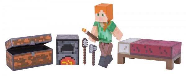 Набор фигурок Minecraft: Alex Survival Pack – Series 3