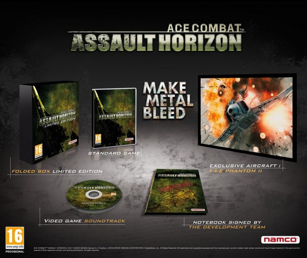 Ace Combat: Assault Horizon Limited Edition. Комплектация