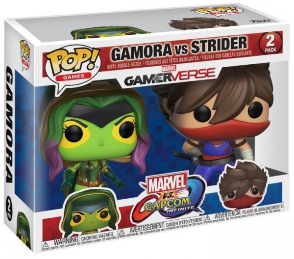 Фигурка Funko POP Games: Marvel vs. Capcom – Gamora vs. Strider (9,5 см)