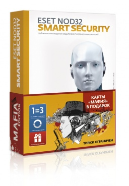 ESET NOD32 Smart Security. Mafia Edition (3 ПК, 1 год)