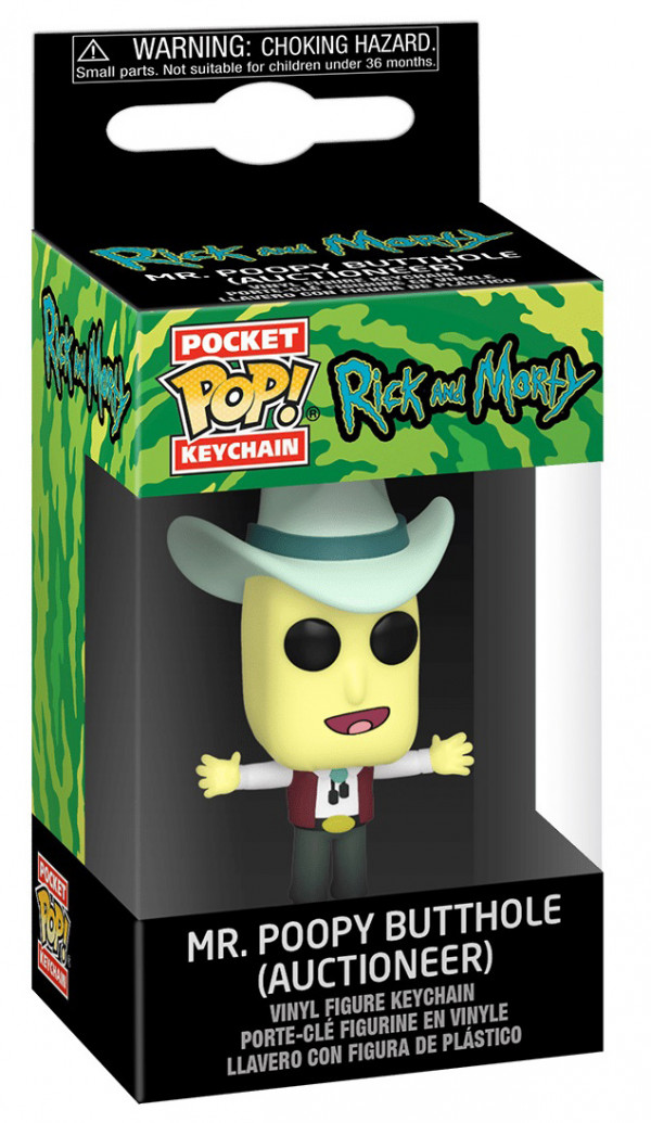 Брелок Funko POP: Rick & Morty – Mr. Poopy Butthole Auctioneer (4 см)