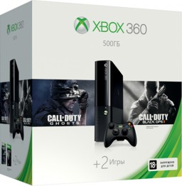 Комплект Xbox 360 (500 GB) + игра Call of Duty: Ghosts + игра Call of Duty: Black Ops 2