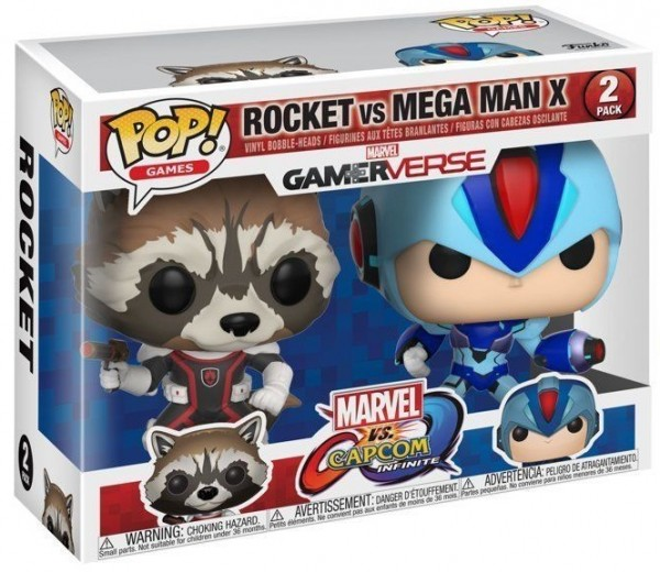 Фигурка Funko POP Games: Marvel vs. Capcom – Rocket vs. Mega Man X (9,5 см)