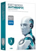 ESET NOD32 Антивирус. Platinum Edition (3 ПК, 2 года)