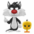 Фигурка Funko POP Animation: Looney Tunes – Sylvester & Tweety Flocked Exclusive (9,5 см)