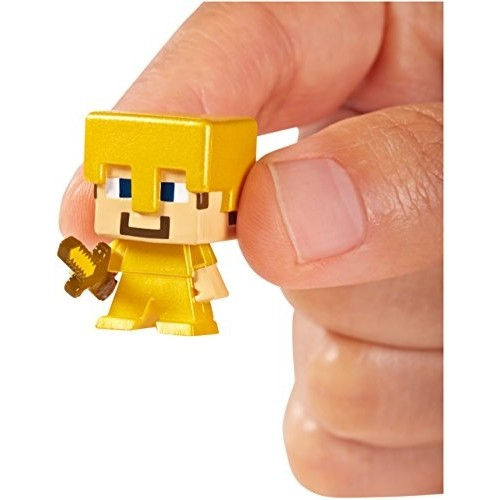 Набор фигурок Minecraft. Series 1. Witch, Steve in Gold Armor & Iron Golem. 3 в 1