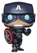 Фигурка Funko POP Games Marvel: Avengers Gamerverse – Captain America Bobble-Head (9,5 см