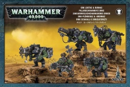 Набор миниатюр Warhammer 40,000. Ork Lootas and Burnas