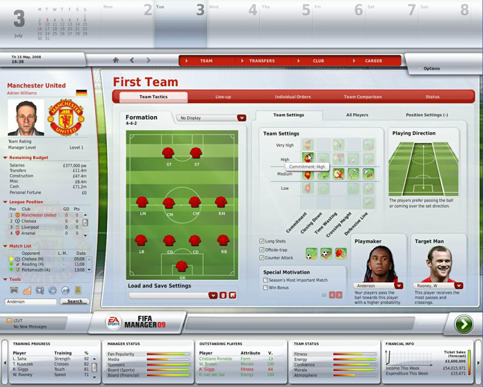 FIFA Manager 09 Screenshot.