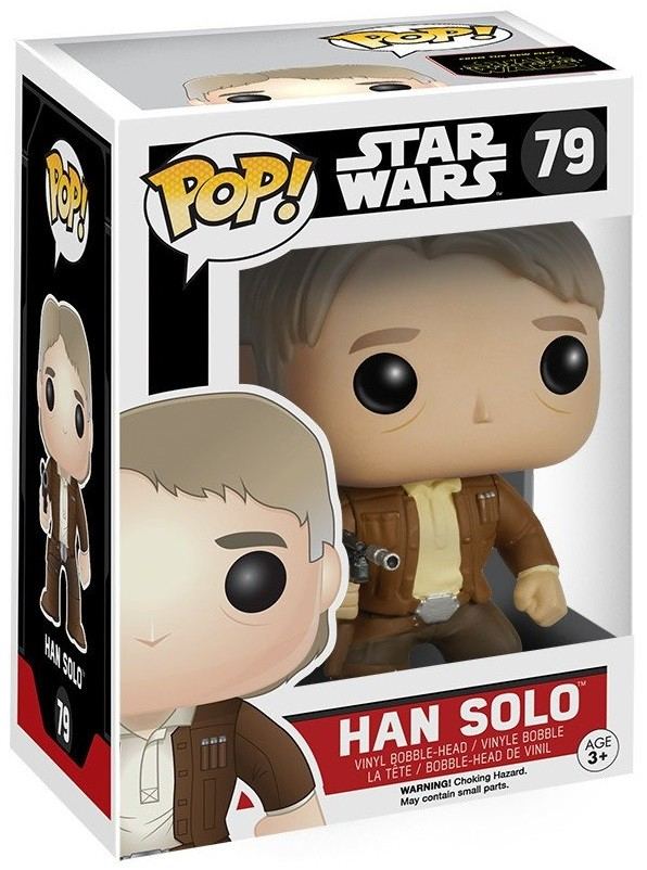 Фигурка Funko POP: Star Wars Episode VII The Force Awakens – Han Solo Bobble-Head (9,5 см)
