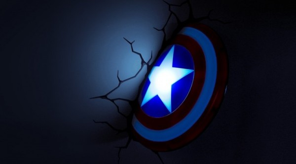 3D Светильник Captain America: Shield