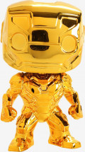 Фигурка Funko POP Marvel: The First Ten Years – Iron Man Chrome Bobble-Head (9,5 см)