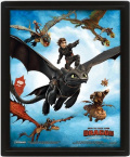 3D Постер How To Train Your Dragon