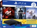 Игровая консоль Sony PlayStation 4 Slim (500GB) Black (CUH-2108A) + игра Horizon Zero Dawn Complete Edition + игра Gran Turismo Sport + игра Uncharted 4 + PS Plus 3 месяца