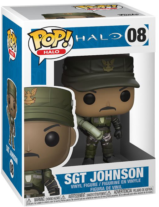 Фигурка Funko POP: Halo – Sgt Johnson (9,5 см)
